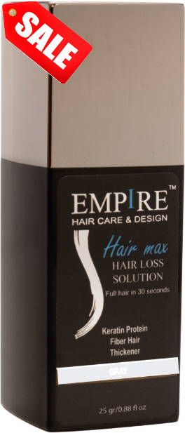 מבצע 3plus1 <br>EMPIRE HAIR MAX GRAY