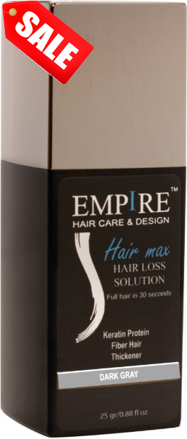 מבצע 3plus1 <br>EMPIRE HAIR MAX DARK GRAY