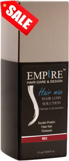 מבצע 3plus1 <br>EMPIRE HAIR MAX RED
